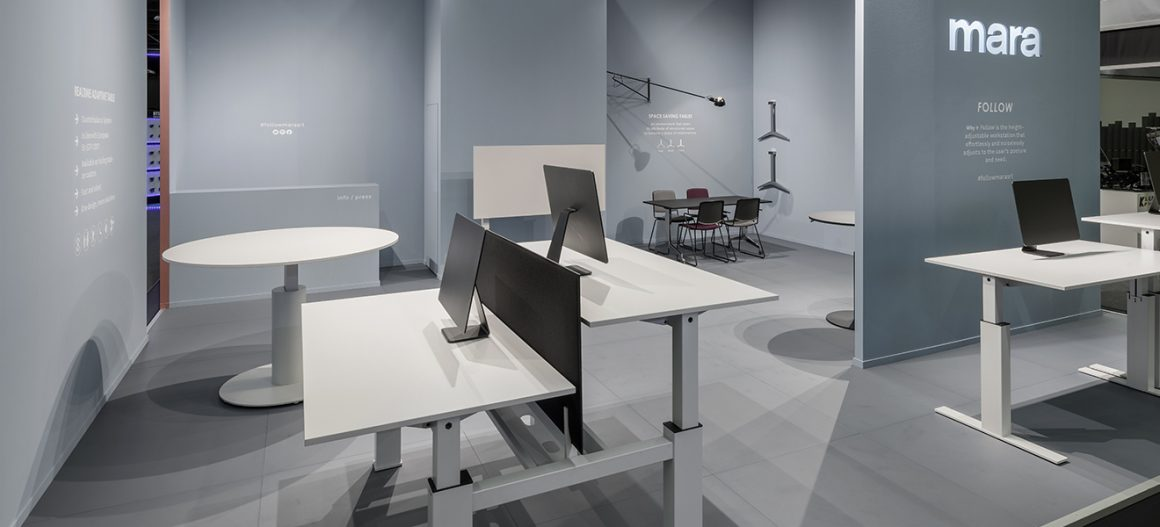 Sit-stand table systems and space-saving solutions for office and living spaces