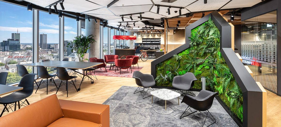 Mara-Möbel in den Wolkenkratzern des Warsaw Hub