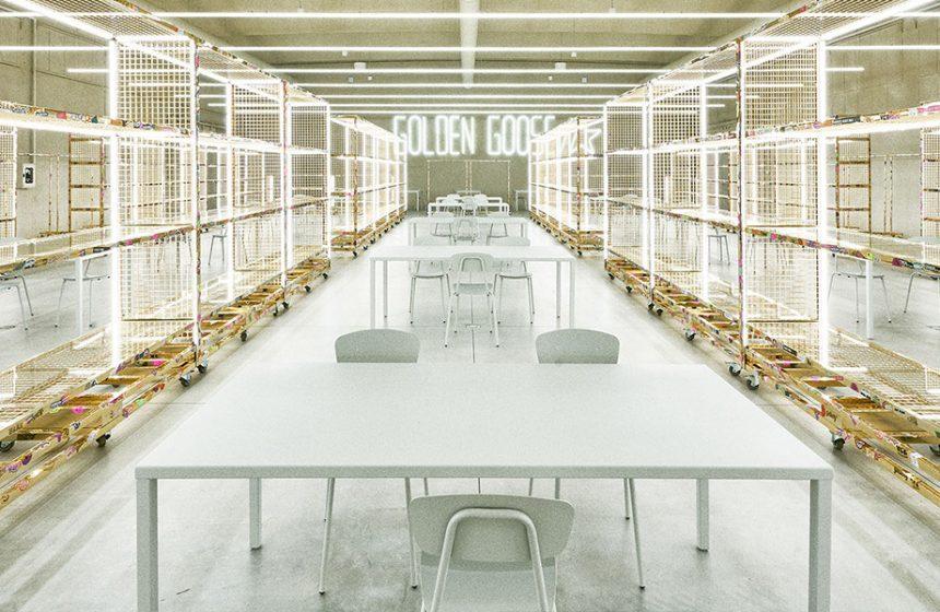 Mara pour le nouveau siège de Golden Goose à Milan